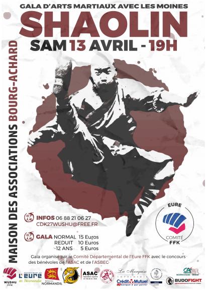 Gala d'Arts Martiaux de Bourg-Achard le 13 avril 2019